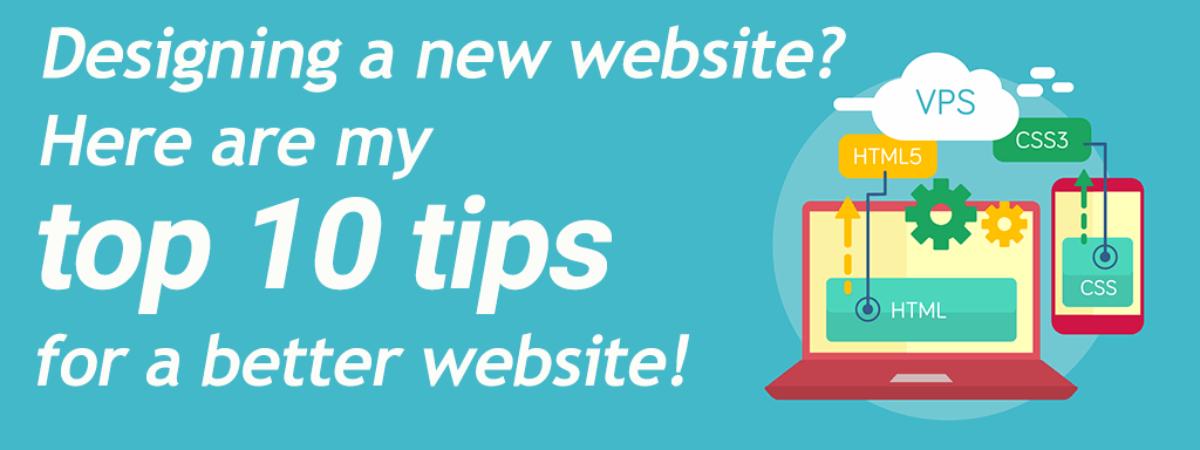 Website design tips for a better website
